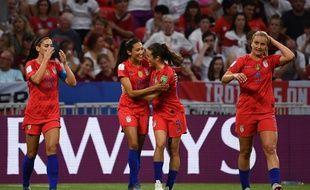 Press a ouvert le score lors de la demi-finale de Coupe du monde Angleterre-Etats-Unis, le 2 juillet 2019.