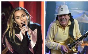 Miley Cyrus et Santana.