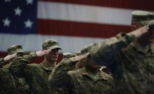 Des soldats américains de retour à Fort Knox après leur départ d'Afghanistan, le 27 février 2014