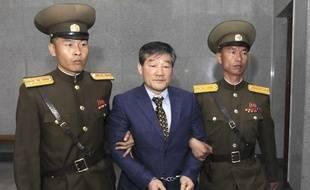 Kim Dong-chul lors de son procès à Pyongyang, le 29 avril 2016.