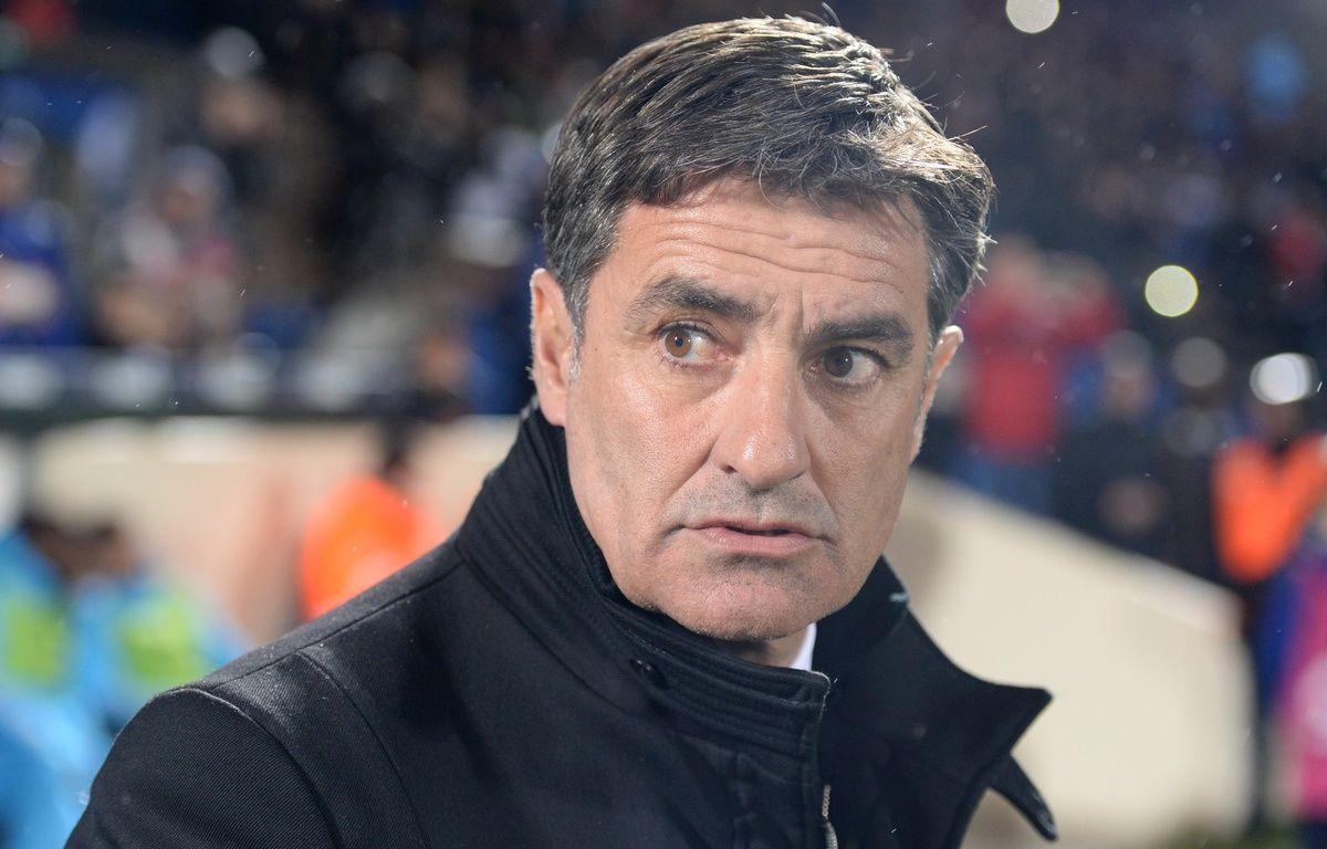 Michel, coach de l'OM, à Bordeaux le 11 février 2016 – NICOLAS TUCAT / AFP
