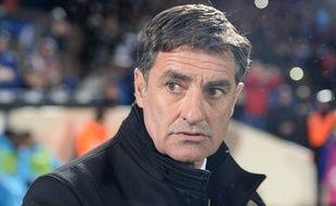 Michel, coach de l'OM, à Bordeaux le 11 février 2016