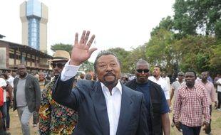 Le candidat à l'élection présidentielle du Gabon Jean Ping,le 27 août 2016. AFP PHOTO / STEVE JORDAN