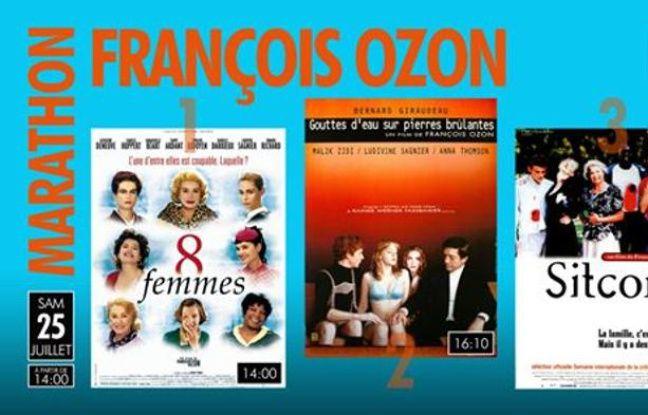Affiches des trois films de François Ozon diffusés lors du marathon