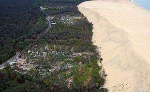 Les trois campings situés au pied de la dune du Pyla, en Gironde