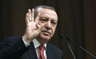 Le président turc Recep Tayyip Erdogan à Ankara, le 12 janvier 2017.