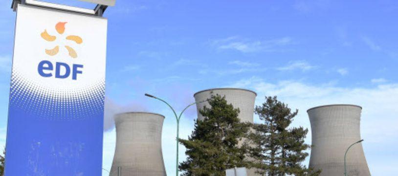 Photo illustration de la centrale nucleaire le Bugey dans le département de l'Ain.