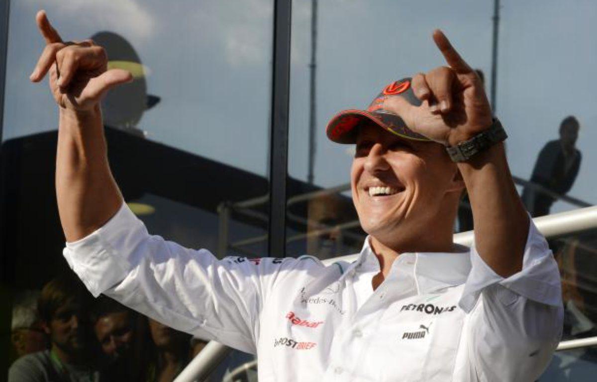 Le pilote de F1 allemand, Michael Schumacher, lors du Grand Prix de Spa, en Belgique, le 1er septembre 2012. – Stringer/REUTERS