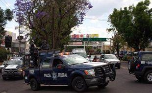 Des voitures de police à Guadalajara au Mexique le 14 avril 2015