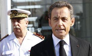 Nicolas Sarkozy, lors du défilé du 14-Juillet 2011.