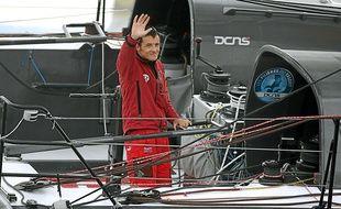 Le navigateur Christopher Pratt au départ de la Route du Rhum 2010, benjamin et 8e de la classe Imoca.