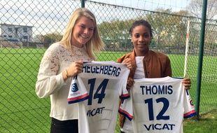 Ada Hegerberg et Elodie Thomis ont prolongé leur contrat à Lyon mardi, à la veille du 8e de finale retour de Ligue des champions face à l'Atlético Madrid.