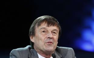 French Environment Minister Nicolas Hulot attends the One Planet Summit, in Boulogne-Billancourt, near Paris, France, Tuesday, Dec. 12, 2017.