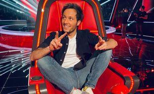 Vianney, dans son fauteuil de coach de The Voice.