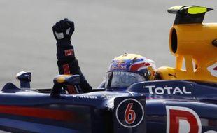 Mark Webber, vainqueur du Grand prix d'Espagne, le 9 mai 2010.