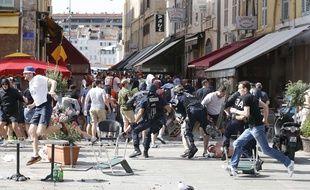 Des violences entre supporters à marseille avant le match de l'Euro Angleterre-Russie, le 11 juin 2016.