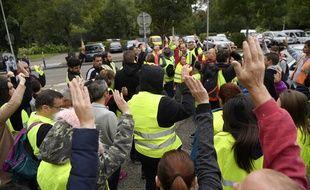 Pont-de-Beauvoisin, le 2 septembre 2017. - Des volontaires lors de la battue citoyenne en Isère pour retrouver Maëlys, 9 ans.