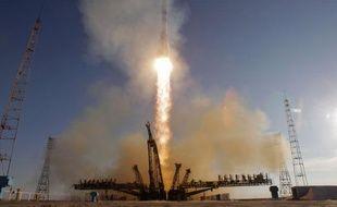 La flamme olympique a décollé avec Soyouz, le 7 novembre 2013.