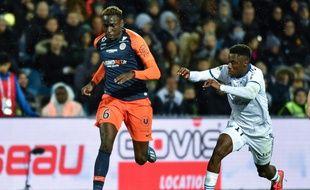 Junior Sambia ici lors d'un match face à Strasbourg.