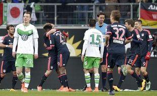 Kingsley Coman face à Wolfsburg, le 27 février 2016