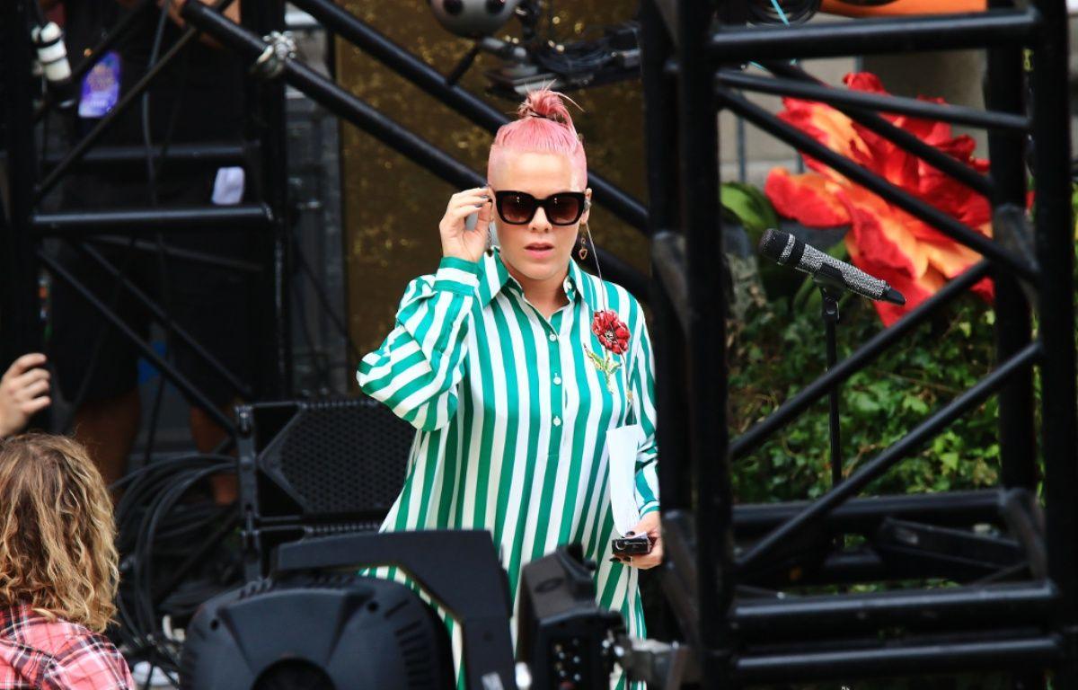 La chanteuse Pink avant un soundcheck en mai 2016 – WENN