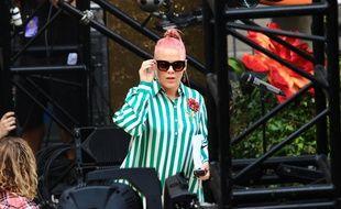 La chanteuse Pink avant un soundcheck en mai 2016