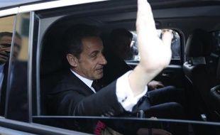L'ancien chef de l'Etat, Nicolas Sarkozy, à Nice le 10 mars 2014