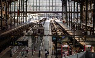 La Gare du Nord quasi-vide, lors de la journée de grève du 24 avril 2018.
