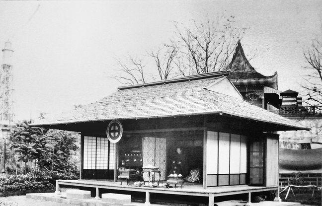 Le pavillon Satsuma lors de l'exposition universelle de Paris en 1867.