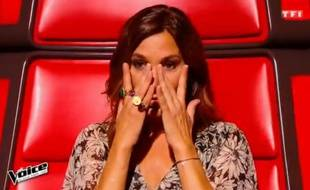Zazie n'a pas pu retenir ses larmes lors des auditions à l'aveugle de «The Voice» le 13 février 2016