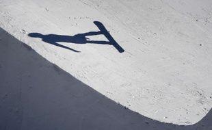 Epreuve de snowboard cross aux JO, le 15 février 2018.