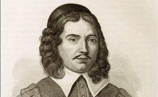 Gravure commandée par Soleirol d'après un portrait au crayon de Sophie Chéron présumé représenter Molière dans le rôle d'Harpagon