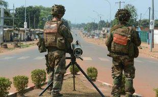 Des soldats français le 30 janvier 2014 à Bangui en Centrafrique