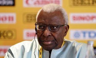 Le président de la Fédération international d'athlétisme Lamine Diack.