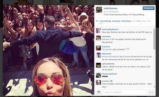 Nabilla publie un selfie sur la Croisette pendant le Festival de Cannes 2014.