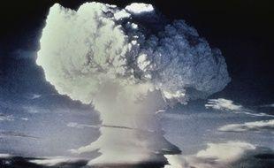 Essai nucléaire dans le Pacifique (illustration).