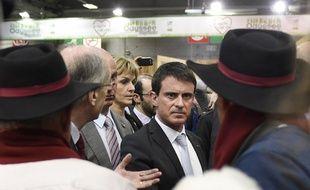 Manuel Valls au salon de l'Agriculture le lundi 23 février 2015.