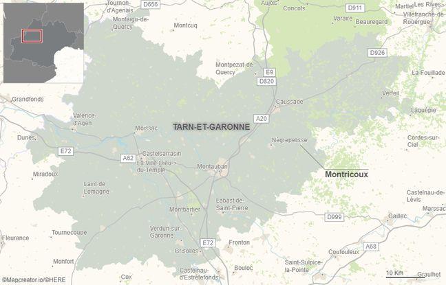 Montricoux se situe à une vingtaine de kilomètres à l'est de Montauban.