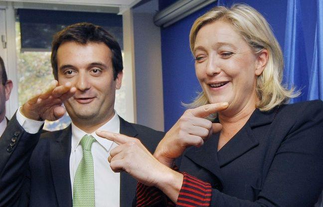 Florian Philippot et Marine Le Pen, le 6 octobre 2011 à Nanterre