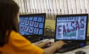 Des étudiants brésiliens assistent à un cours sur les «fake news» à Sao Paulo, en juin 2018.