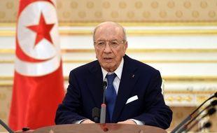 Béji Caïd Essebsi, le président tunisien, lors d'un discours à Tunis, le 28 juin 2015.