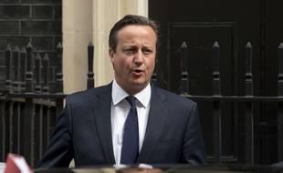 Le Premier Ministre britannique David Cameron devant Downing Street à Londres le 8 juillet 2015.