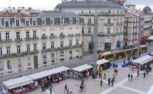 Vue de Montpellier (Illustration).