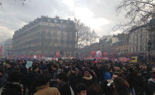 Les manifestants se sont rassemblés sur la Place de la République.
