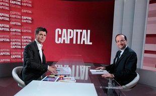 """François Hollande interrogé par Thomas Sotto dans l'émission """"Capital"""" (M6) du 16 juin 2013"""