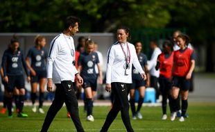 Philippe Joly, l'adjoint de Corinne Diacre à la tête de l'équipe de France féminine.