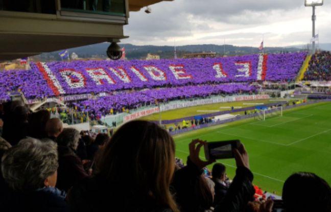 VIDEO. Lâcher de ballon, tifo, match arrêté: La Fiorentina a rendu un dernier hommage à Davide Astori