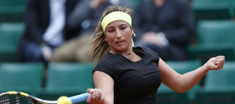 Aravane Rezai, lors de son dernier match à Roland-Garros, face à Kvitova en 2013