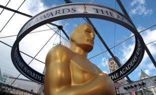 Une statue des Oscars, sur Hollywood Boulevard.