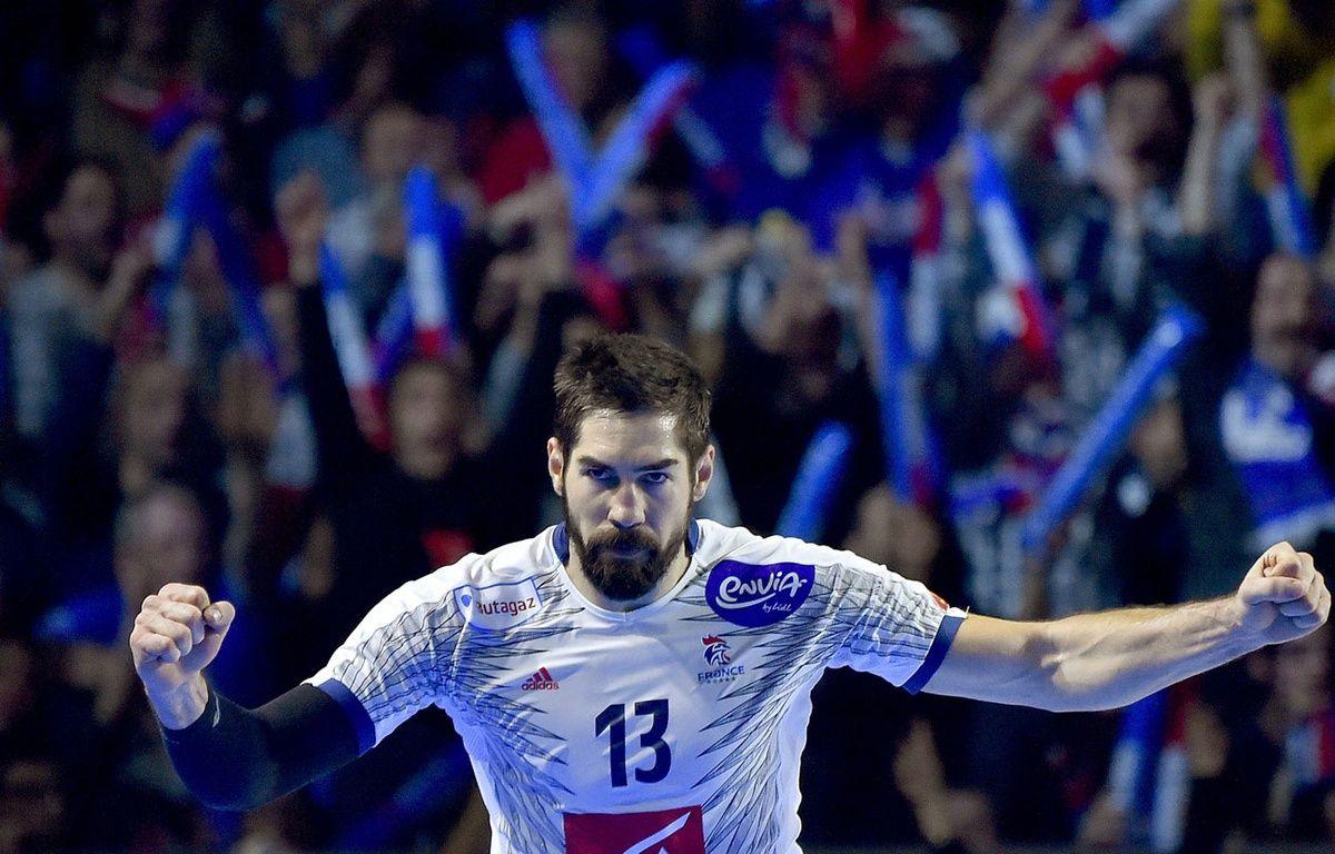 Nikola Karabatic lors du match entre la France et la Norvège le 15 janvier 2017. – LOIC VENANCE / AFP